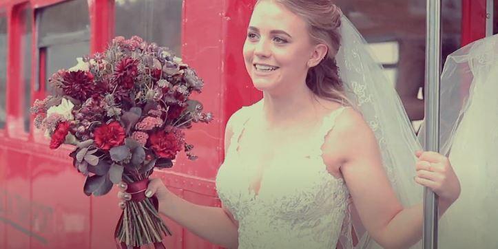 Delighted bride