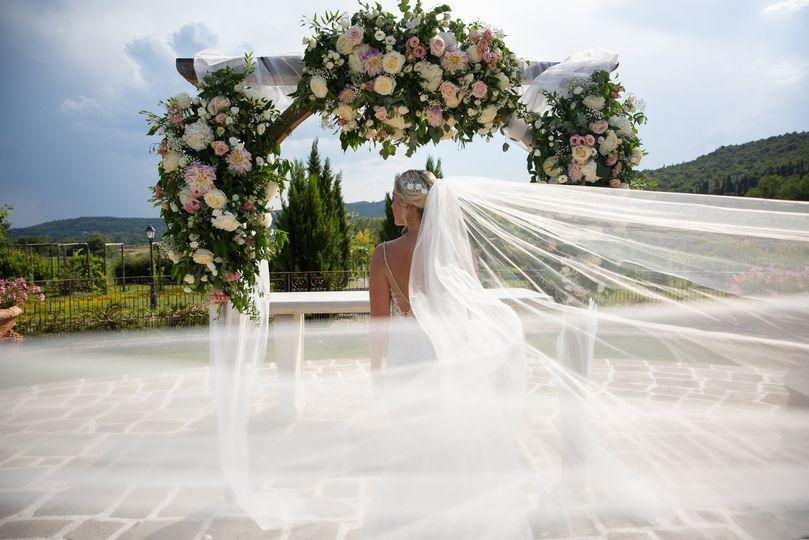 Wind sweeping veil