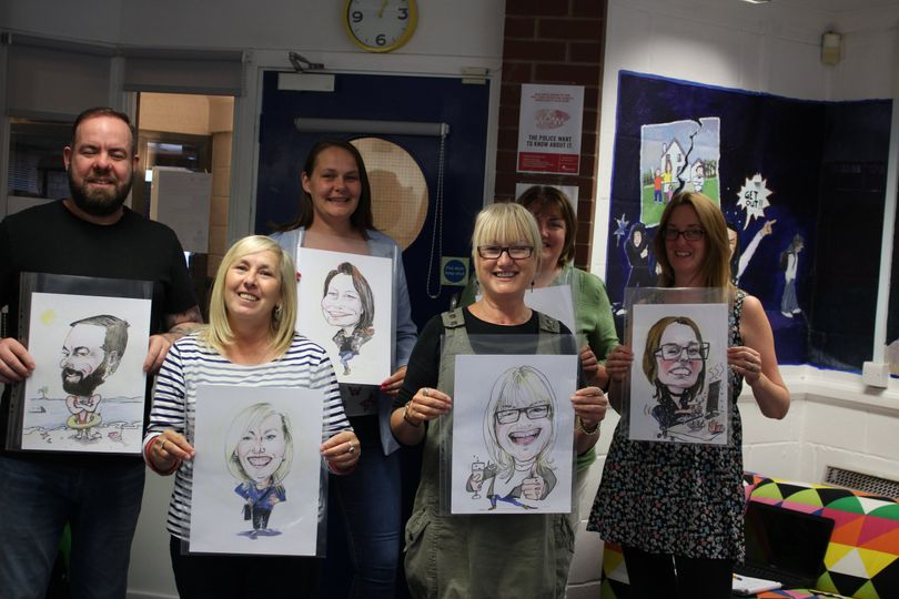 Group Charity caricatures