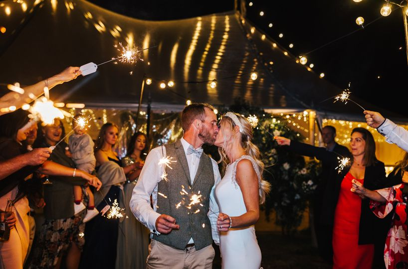 Real wedding Sparkler arch
