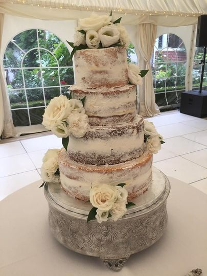 Multi-tier naked cake