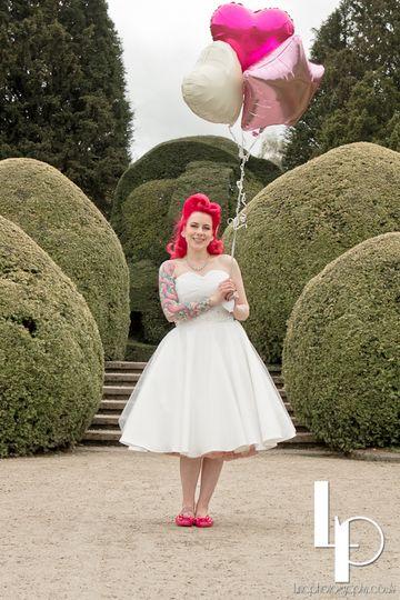 rockabilly bride red hair full skirt 4 105891