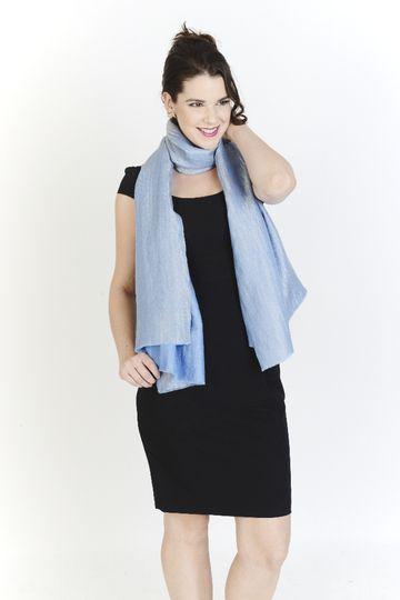 Brilliant Blue Lurex Wrap