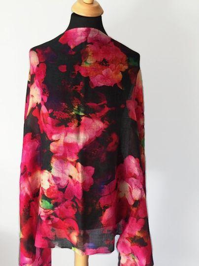 Floral Cashmere Shawl