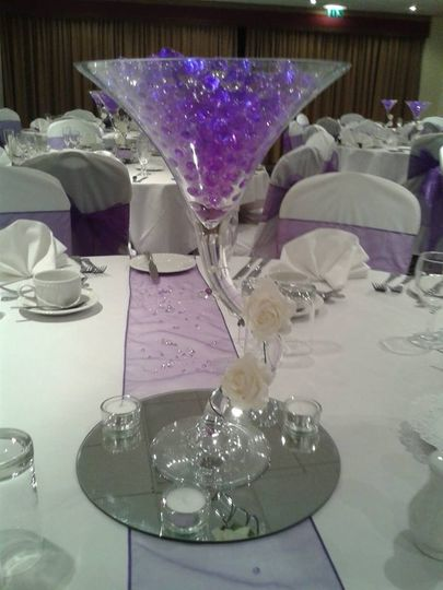 Variety of centrepieces avail