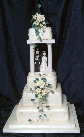 Traditonal tiered cake