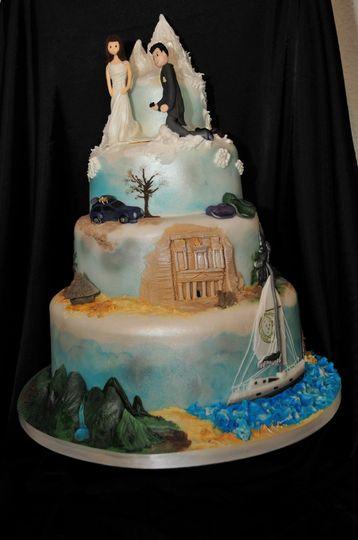 Modern tiered cake