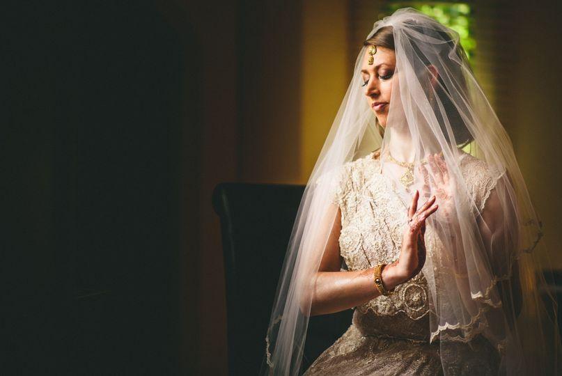 Asian-English wedding dress