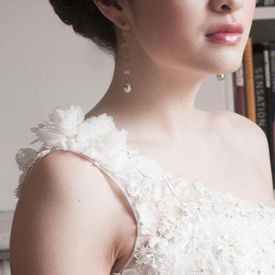 Tahitian pearls bridal earring