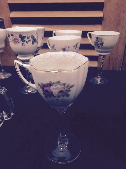 Teacup glasses