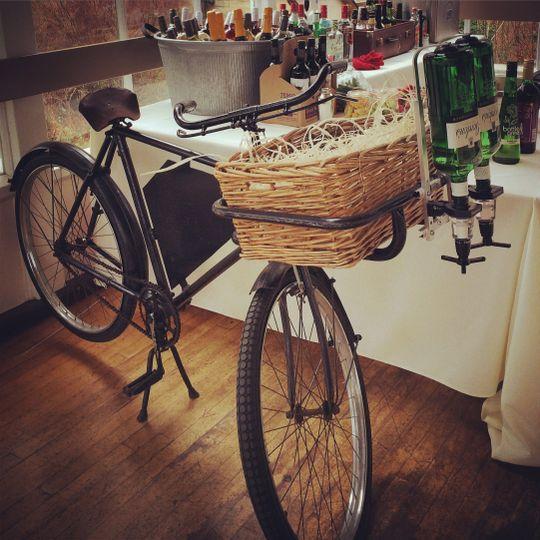 Vintage mobile bicycle bar
