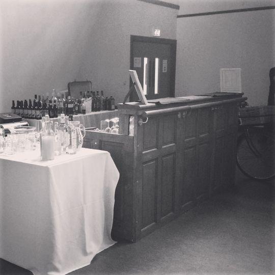 Dark wood vintage style bar