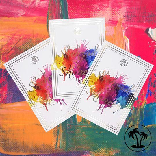 Watercolour invitation suite