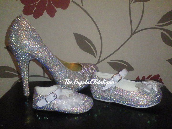 All sizes crystal shoes