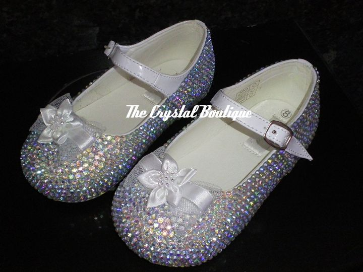 Infant crystal bridesmaid shoes