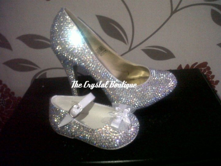 Adult And Childs Crystal Shoes