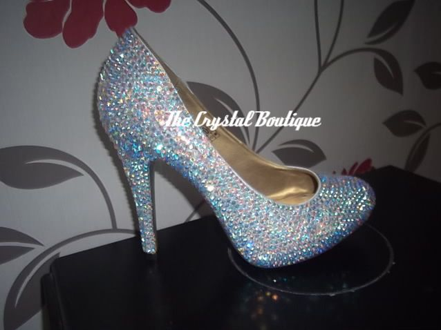 Bridal Clear Crystal Shoes