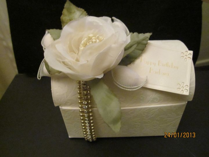 Handmade personalised giftbox