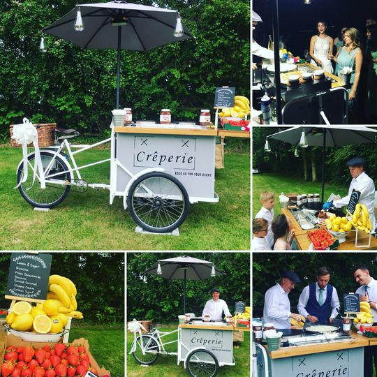 Vintage catering tricycle