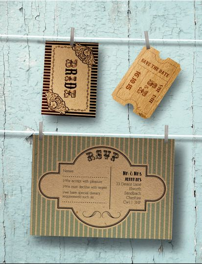 Shabby chiq invitation