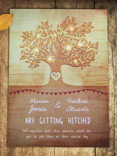 Golden autumnal invitations