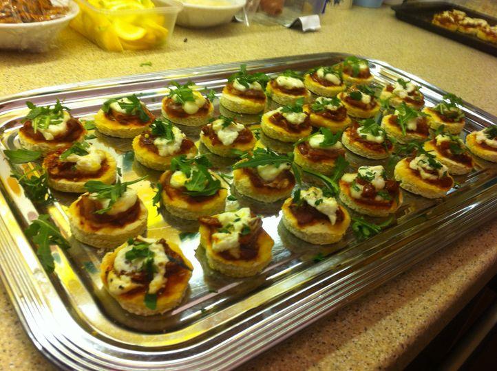 Gourmet mini pizzas