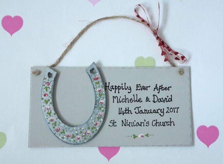 Wedding horseshoe keepsake