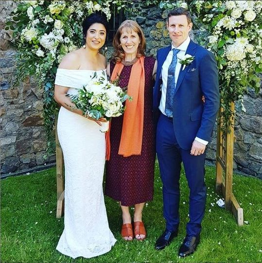 Helen with the newlyweds
