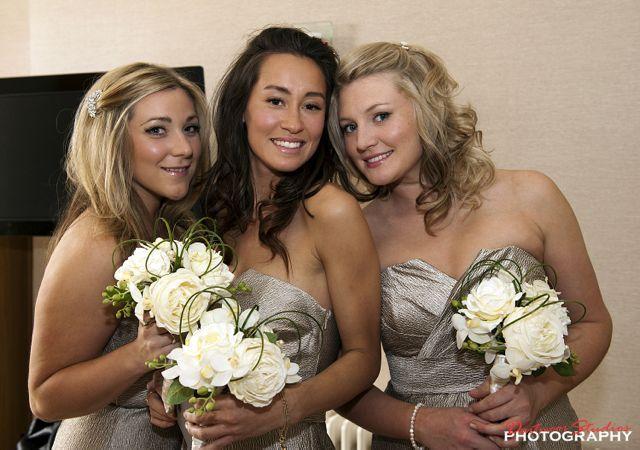 Silk flower wedding bouquets