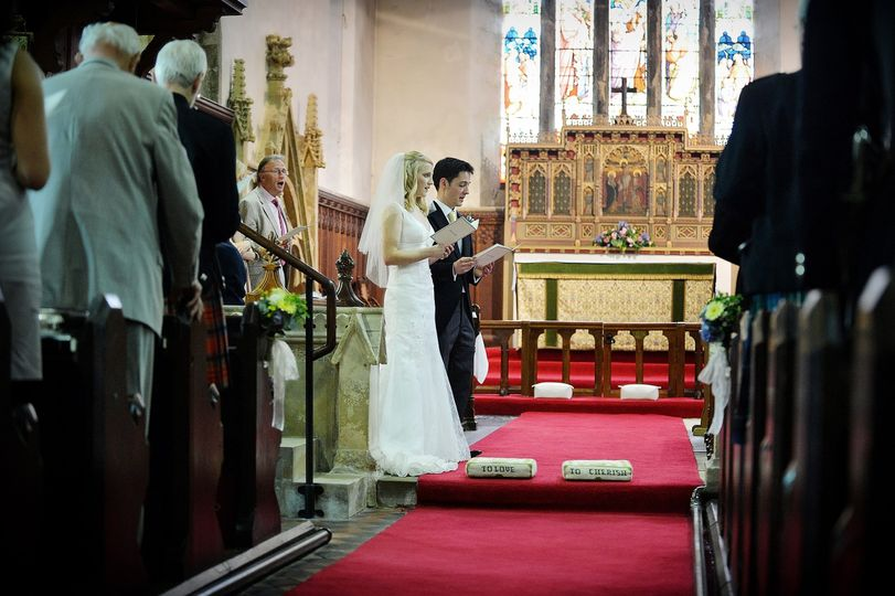 A ceremony in St Mary's Church, Goldsborough by DJB Photography
