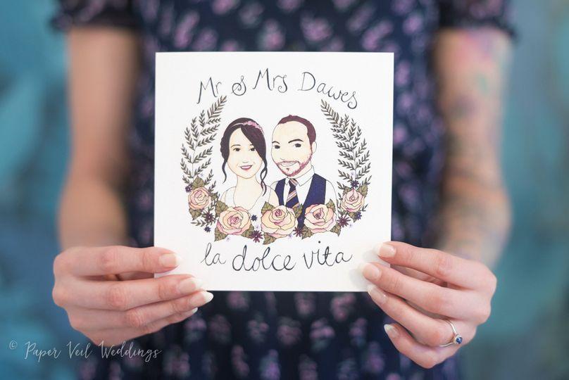 Couple Illustration Invitation