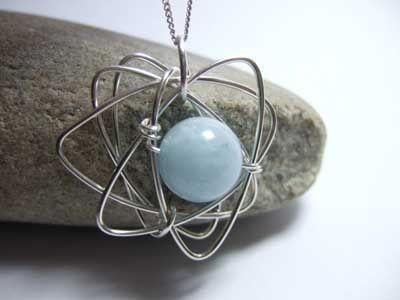 Aquamarine and Silver Pendant