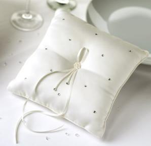ring cushion ivory