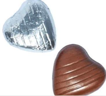 Wedding foil hearts