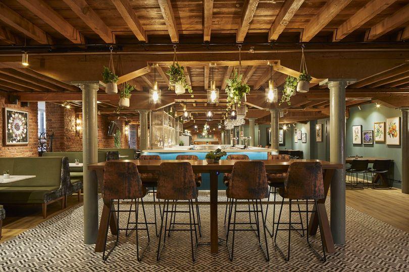 Newly refurbished hotel bar