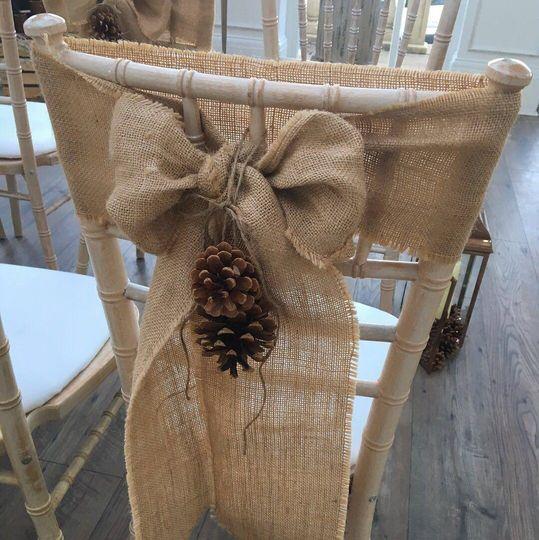 Pretty chair decor