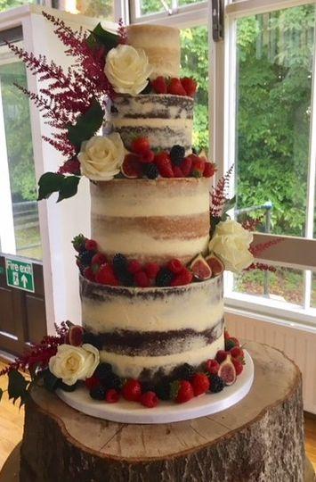 Four Tier Semi-Naked Cake