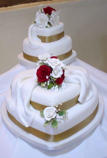 Hearts stacked cake