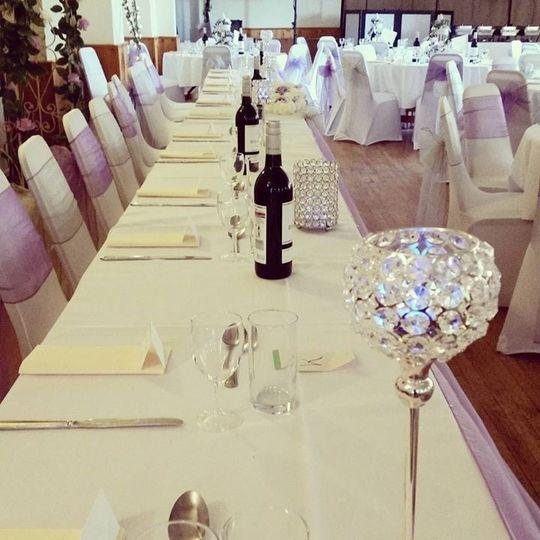 Crystal lights top table