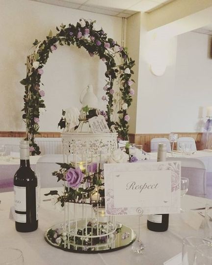 Wedding arch in lilacs  by us