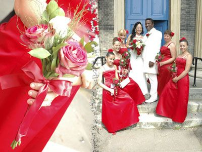 Red & white themed wedding