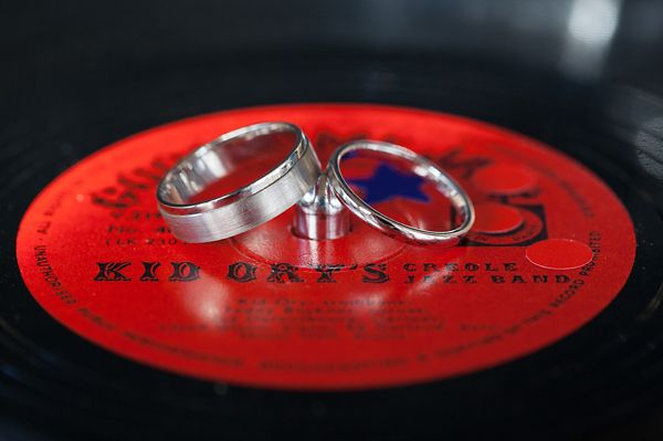 Both rings on a 78rpm record
