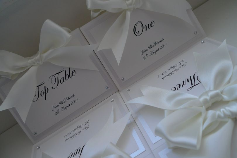 Big bow table numbers