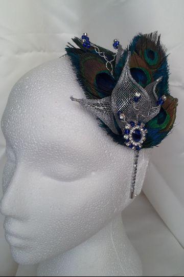 Peacock fascinator