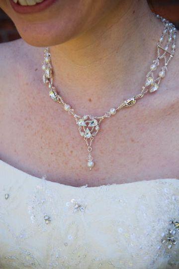 Matching necklace/ side tiara