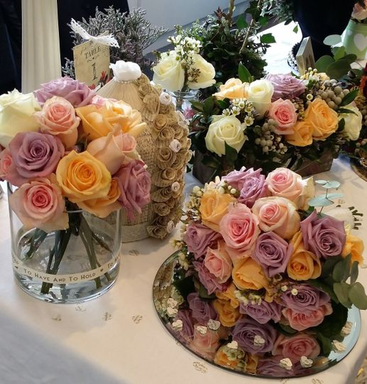 Romantic pastel shades