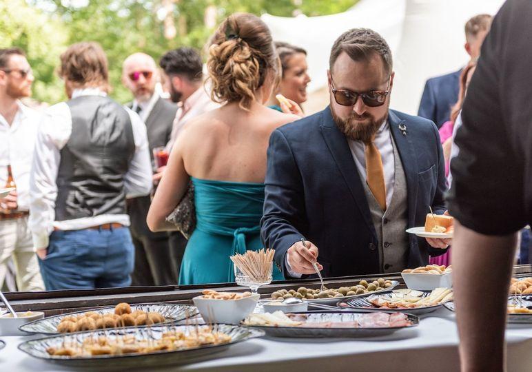 Shared wedding food