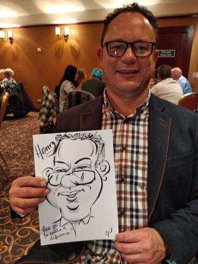 Live event caricaturist N.I.