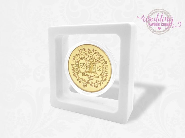 Gold-covered coin