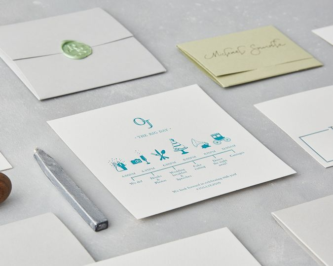 Letterpress Wedding Timeline